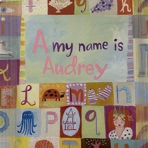 """""""Audrey"""" custom alphabet frame"""